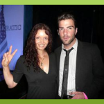 "With ""Mr Spock"" Zachary Quinto at another event with the New President!"
